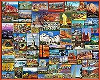 ジグソーパズル1500個セット-有名な風景-子供の教育用ジグソーパズル木製素材の大きなパズル