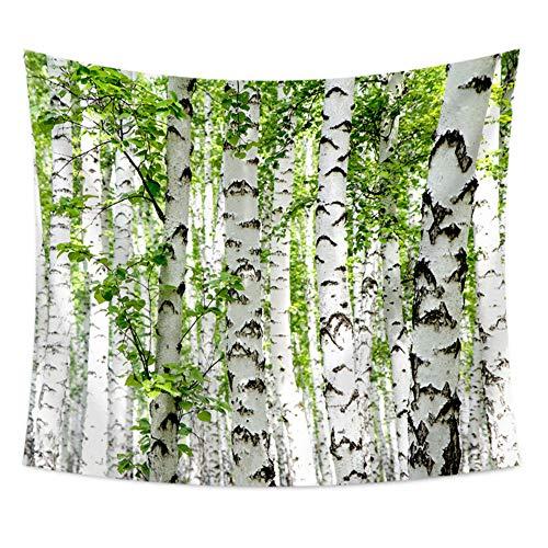 Wupettier Tapiz para colgar en la pared, diseño de árbol 3D innovador para decoración de la sala de estar, dormitorio (blanco, 150 x 130)