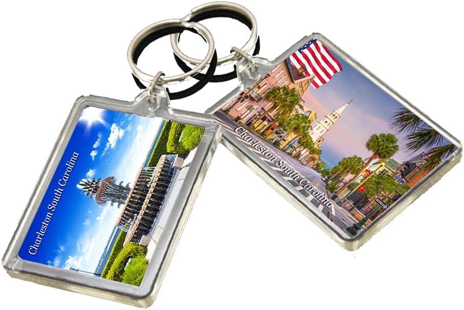 KR034 Charleston South Carolina City Keychain United States Travel Photo Keyring