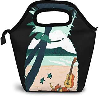 Aloha Pineapple Lunch Bag Insulated Lunch Box Cooler Tote Handbag Food Container Gourmet Tote Warm Pouch For School Work Office