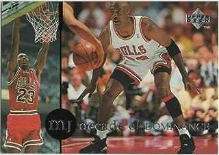 1994-95 Collector's Choice International Spanish Decade of Dominance #J6 Michael Jordan '88 NBA Defensive POY NBA Basketball Trading Card Chicago Bulls