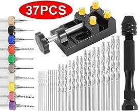 Juego de 37 brocas de mano para taladro de mano, de 0,3 a 1,2 mm PCB y de 0,5 a 3,0 brocas giratorias para tallado artesanal