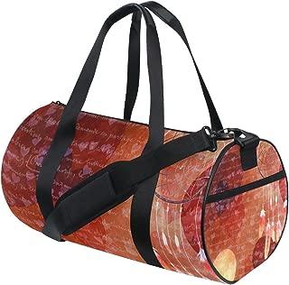 Gym Bag Dream Catcher Heart Sports Travel Duffel Lightweight Canvas Bags