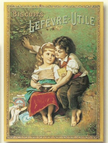 Lu Koekjes Collectie Franse VINTAGE POSTER 50x70cm RETRO AD LU BISCUITS LOVERS
