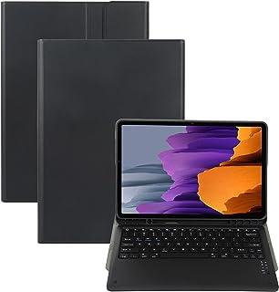 حافظة لوحة مفاتيح ZOMUN لهاتف Samsung Galaxy Tab S7 FE 12.4 بوصة [SM-T730 / SM-T736B]، لوحة مفاتيح بلوتوث لاسلكية وغطاء فو...