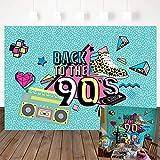 Mehofoto 90s Backdrop Graffiti Retro Radio Fashion Shoes Photography Background 7x5ft Vinyl Hip Hop 90th Themed Party Banner Decoration Backdrops