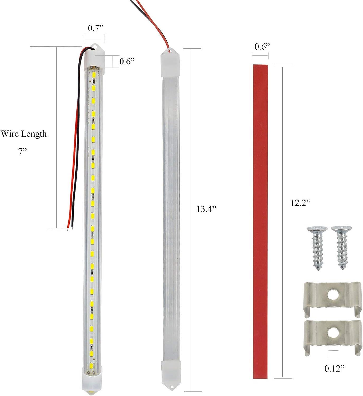 4 Pack Autopher 12V 24 LED Car Interior Light Bar 6500K Ultra ...
