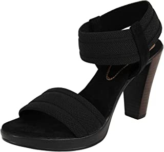 Catwalk Women's Black Block Heel Sandals Fashion