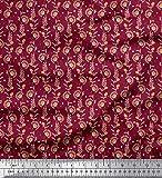 Soimoi Rot japanischer Kreppsatin Stoff Punkt, Blätter &