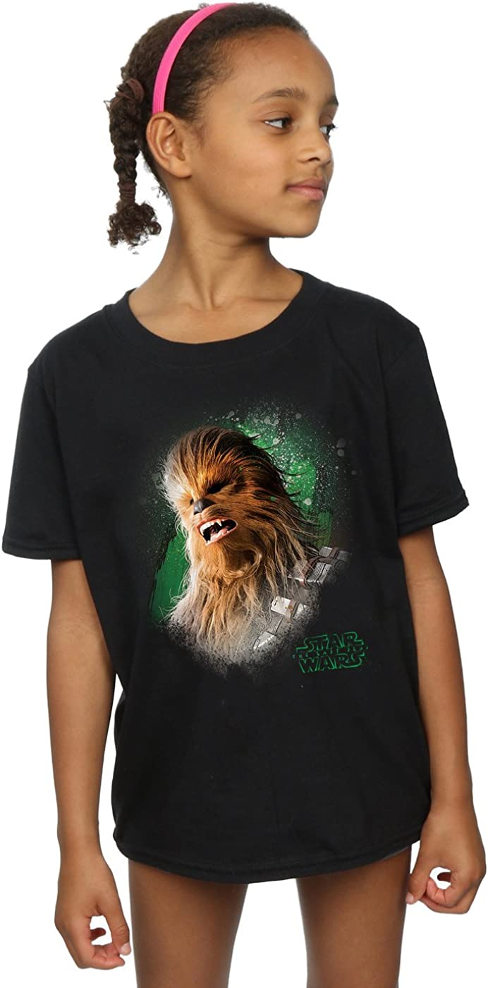 STAR WARS Girls The Last Jedi Chewbacca Brushed T-Shirt 12-13 Years Black