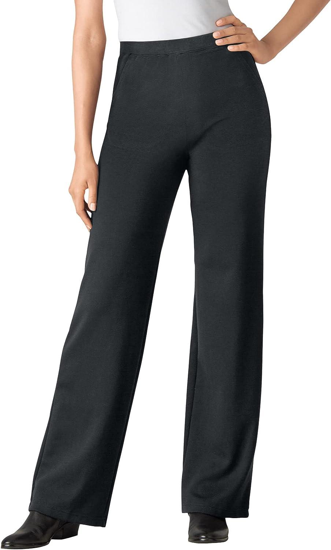 Woman Within Women's Plus Size Wide Leg Ponte Knit Pant