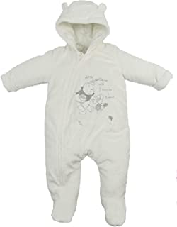 Baby Snowsuit Pram Coat Unisex Disney Winnie The Pooh Tiny Baby to 9-12 Months