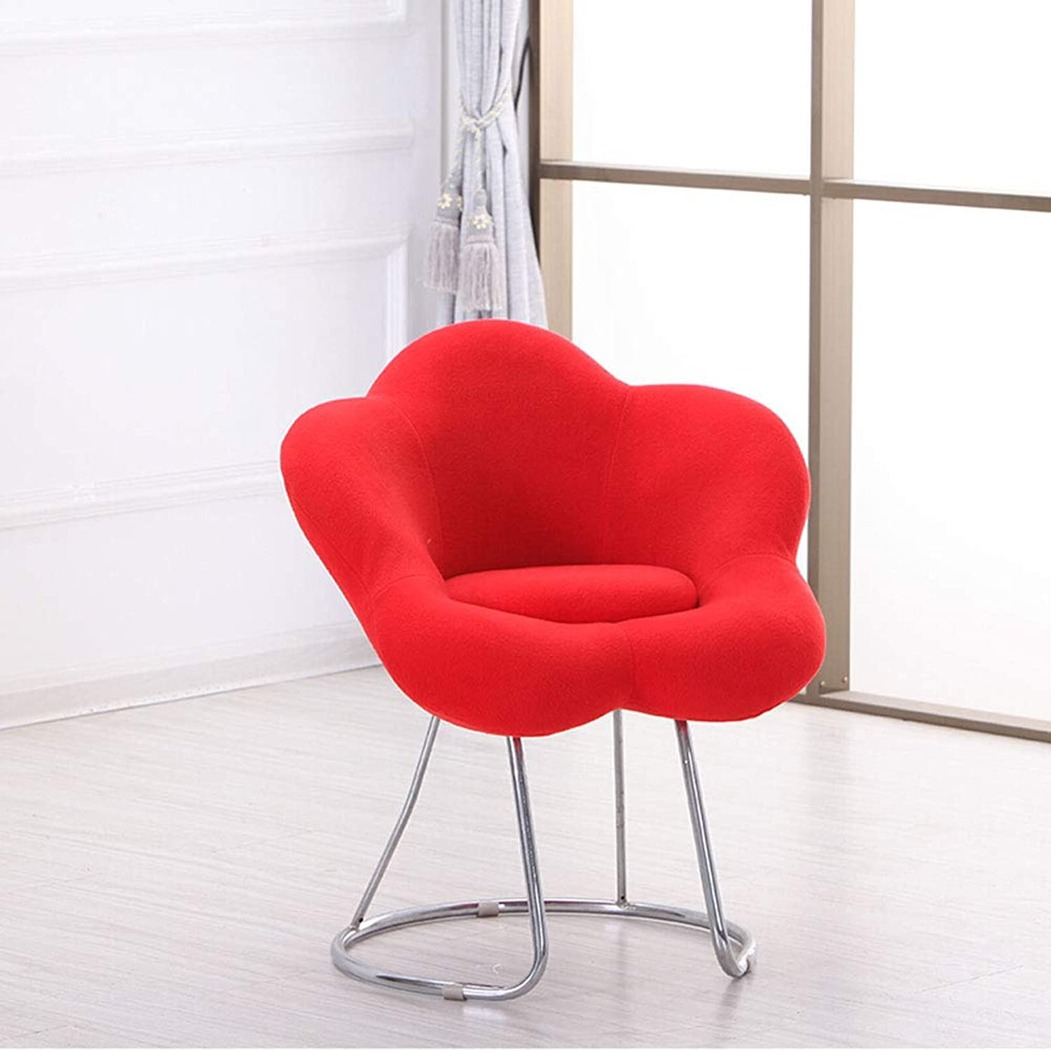 shoes Bench Leisure Simple Sofa Chair Stool Single Chair 0522A (color   Red)