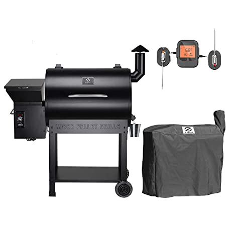 Z GRILLS ZPG-7002BPRO Wood Pellet Grill Smoker for Outdoor Cooking with Cover, 2020 Upgrade, 8-in-1 (ZPG-7002BPro)
