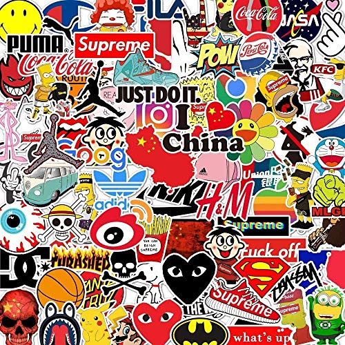 Sticker Pack Cool Stickers 100PCS, Durable, Waterproof, Aesthetic, Trendy Sticker Decals for Teens, Water Bottles Travel Case Sticker Door Laptop Luggage Car Bike Bicycle