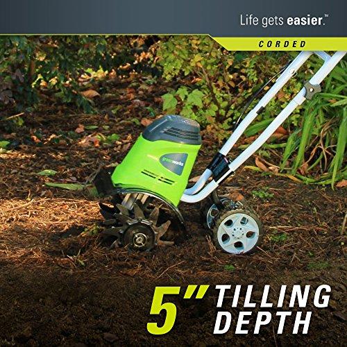Greenworks 8 Amp 10-Inch Corded Tiller, 27072