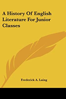 A History Of English Literature For Junior Classes