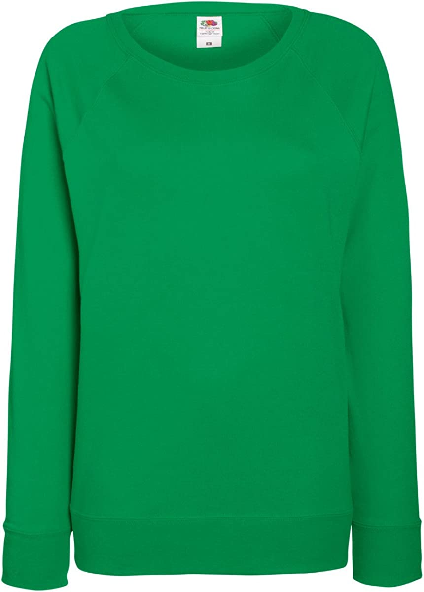 Fruit of the Loom Damen Sweatshirt Ladies Lightweight Raglan Sweat F315 Pullover