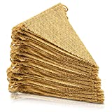 ThxToms (45 Pcs) Burlap Banner, DIY Party Decor for Birthday, Wedding, Baby Shower and Graduation, 42ft