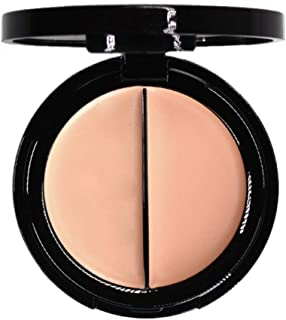 EVE PEARL Dual Salmon Concealer Full Coverage Under Eye Concealer Smooth Skin Treatment Brighten Makeup Hydrate Skincare (Light)