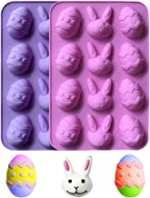 12 Holes Easter Egg Chocolate Silicone Mold DIY Baking Cake Mold Candy Making Molds Trays Cooking Supplies for Ice Cube Cu...