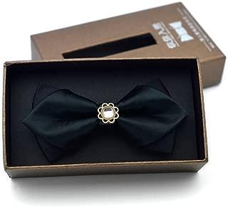 Scuola Ragazzi Bambini Bambini Matrimonio Tinta Unita Cravatta Elastica Cravatta Ragazzo Cravatta Matrimonio Bambino Cravatta Cravatta Macchia Nero WEIWEITOE