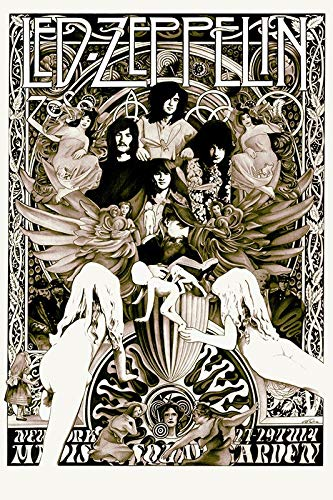 Led Zeppelin - Madison Square Garden 27-29 July 1973 Poster A2 (59.4x42cm)