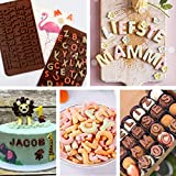 noone Molde para tartas de chocolate, galletas, postre, números de letra, decoración para fondant, hogar, utensilios de cocina