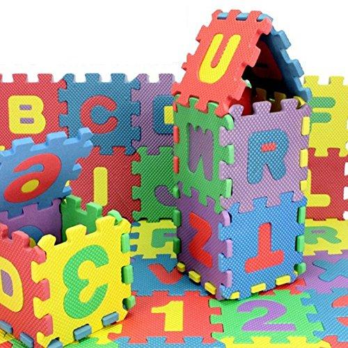 36 STÜCKE Pro Set Neue EVA kinder Puzzle Matte Spielteppich baby Schaumstoffmatte Kinderteppich Digitale Brief Pädagogische Schaum Matte 15 * 15 Umweltfreundliche Baby Klettern Matte 15,5*15,5*0,9cm