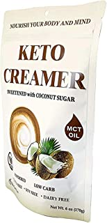Cherie Sweet Heart Keto Creamer With MCT Oil, Sweetened With Coconut Sugar, Dairy Free, Coffee Creamer Milk Substitute (6 oz)