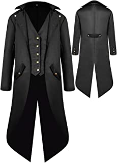 Duster Style Gothic Victorian Cowboy Costume Adult Steampunk Coat ONLY