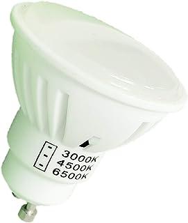Pack 10x GU10 LED 7w CCT. Color Blanco Intercambiable a Elegir 3000K/4500K/6500K. 680 Lumenes en cada color. A++