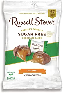 Russell Stover, Sugar Free, Butter Cream Caramel Candy, 3oz Bag (Pack of 4)