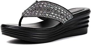 Flip Flop, Rhinestone Slip Summer Sandals, Ladies Beach Slippers, Soft and Comfortable, Flat Heel (Size 35-40) Havaiana