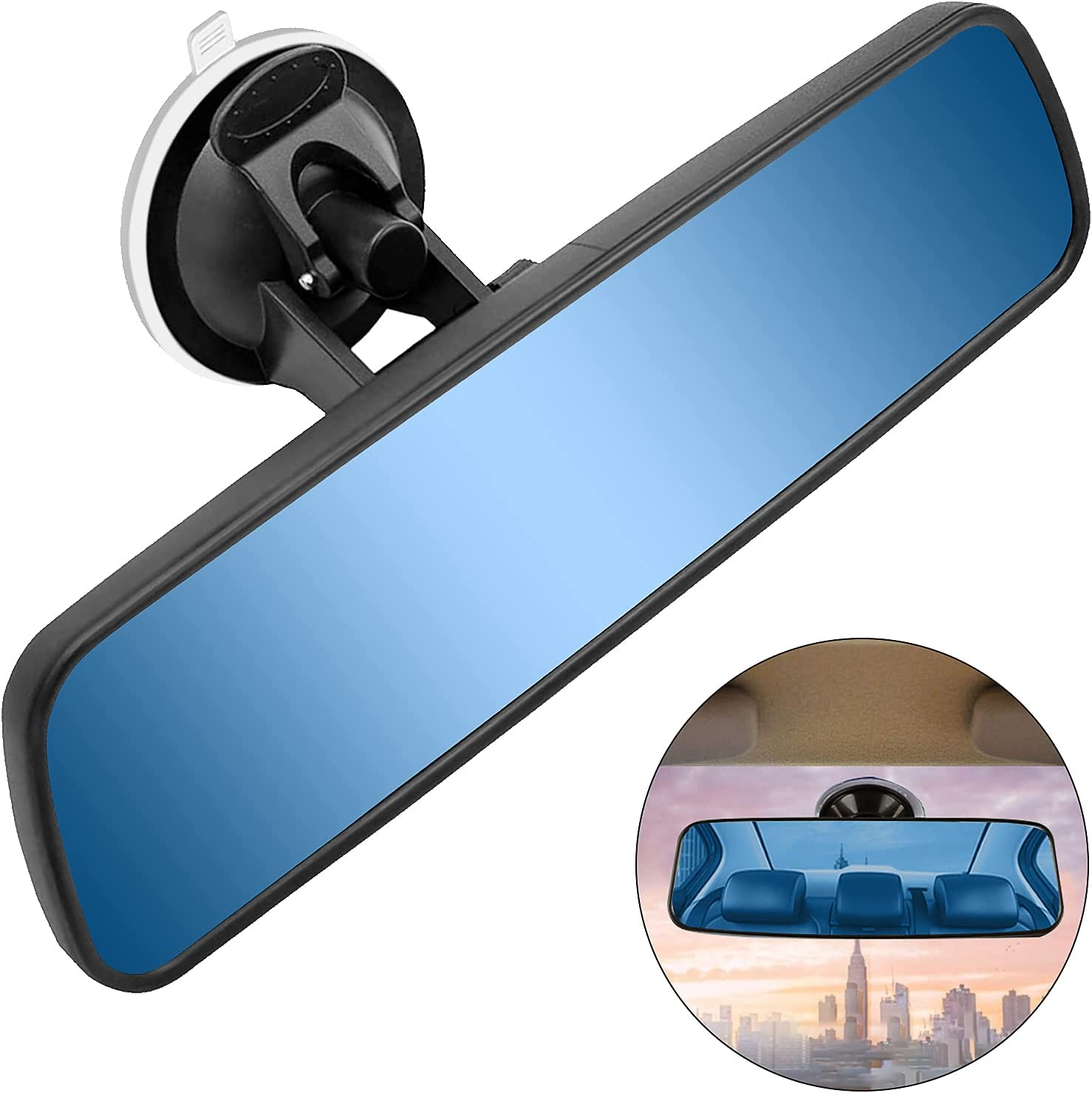 Buy Rear View Mirror, Suction Cup Hd Panoramic Car Rearview Mirror ...