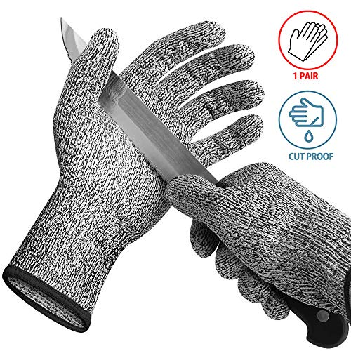 Vruta Knife Cut Resistant/Anti Hand Cutting, Level 5 Protection, High Performance Safety Kitchen Cuts Gloves, for Cutting, Slicing, Wood Carving, Food Grade Kitchen Hand Safety Gloves (1 Pair)