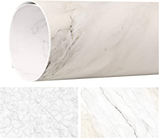 Meking 32x22in Double Sided White Marble Photography Backdrop Paper Background for Small Product, Flat Lay & Food Photo Shoot Props