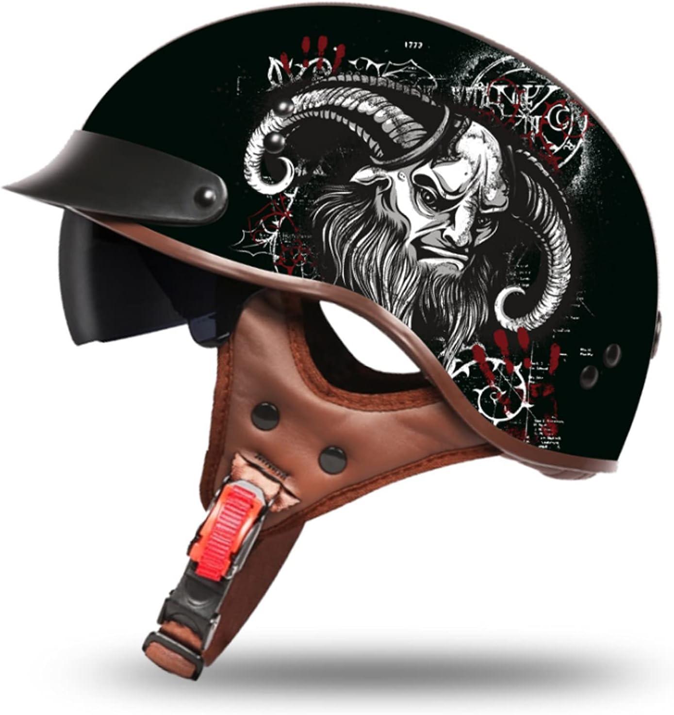 Summer Retro Austin Mall Popular shop is the lowest price challenge Half Helmet Vintage Motorcycle Helmets Open-Face Me