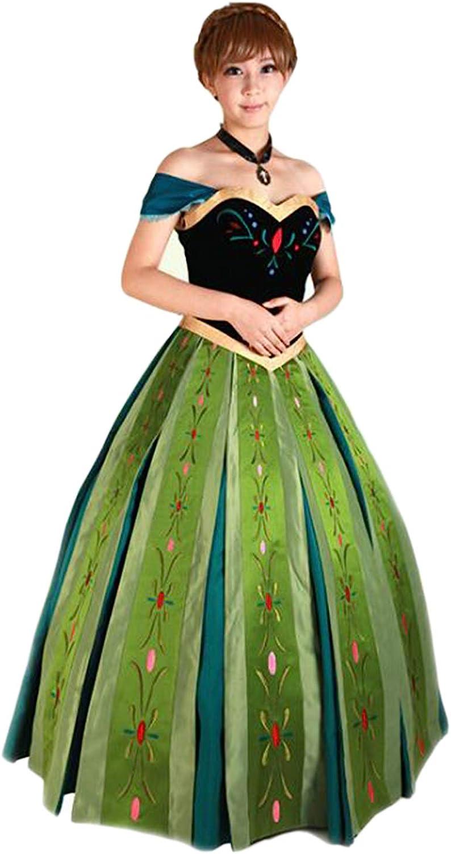 Mordarli Weekly Seattle Mall update Women's Princess Anna Christmas Dress Costume Halloween