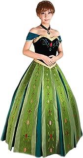 Mordarli Women's Frozen Princess Anna Dress Cosplay Costume Fancy Dress
