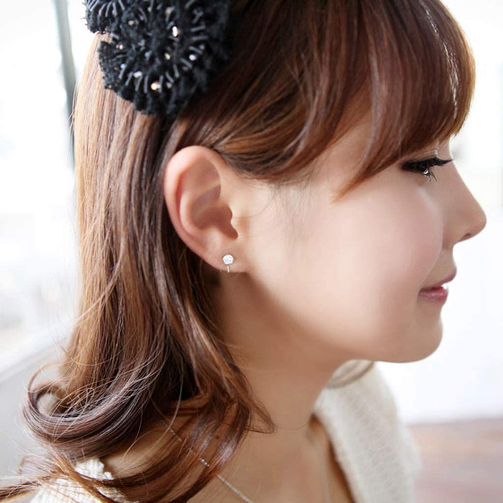W-ZIYUI Fashion Trend Earrings CZ Stone Clip On Earring Crystal Ear Cuff Non-Piercing Ear Clip Fashion Jewelry