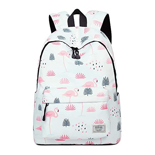 Joymoze Fashion Leisure Backpack for Girls Teenage School Backpack Women Print Backpack Purse Flamingos