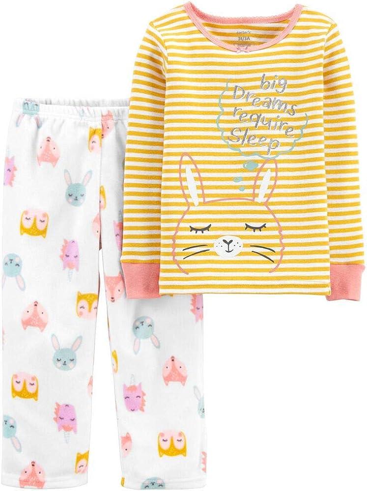 Carter's Baby Girls' 2 Pc Fleece Cotton Pajamas, Big Dream