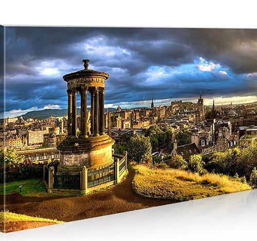 islandburner Imagen sobre lienzo Edimburgo Escocia 1p XXL póster lienzo pared pared decoración salón marca islandburner