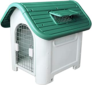Jainsons Pet products® Outdoor Indoor Plastic Dog Houses Carry Portable Pet Waterproof Plastic Dog Kennel Puppy Shelter fo...