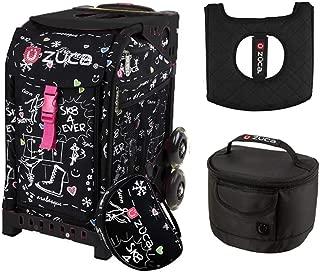Zuca Sport Bag - SK8 Black with Gift Black Seat Cover and Black Lunchbox(Black Frame)