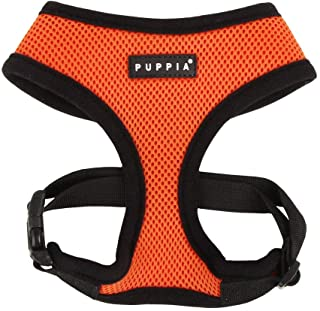 Puppia Soft Dog Harness No Choke Over-The-Head Triple Layered Breathable Mesh Adjustable..