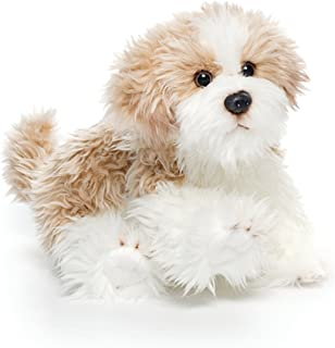 DEMDACO Small Maltipoo Dog Curly Light Brown White Children's Plush Stuffed Animal Toy