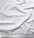 Soimoi Blau Baumwoll-Voile Stoff Zahlen & Buchstaben klein