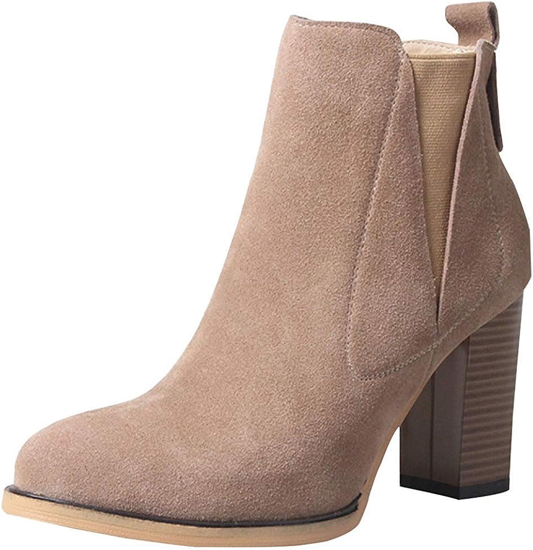 Frauen Frühling Herbst Winter High Heels Matt Stiefeletten Warme Warme Warme Schuhe (Farbe   6, Größe   40EU)  bf3830